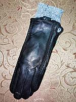 Кожа-натуральная с кролик женские перчатки только оптом, фото 1