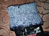 Кожа-натуральная с кролик женские перчатки только оптом, фото 4