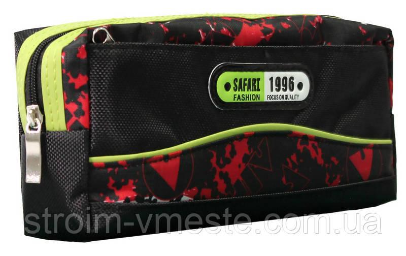 Пенал-кошелек с карманом, 20*9*5.5см, PL,цвет ассорти, 18028, SAF