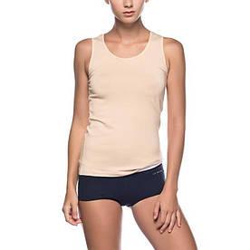 Домашняя одежда U.S. Polo Assn - Майка женская 66005 бежевая, 36р. S