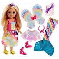 """Кукла Barbie оригинал """"Волшебное перевоплощение Челси с Дримтопии""""  (FJD00)"""