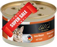 Влажный корм для кошек Edel Cat Нежный мусс с фазаном 85 г