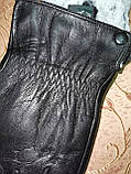 Кожа-натуральная с кролик Мужские перчатки только оптом, фото 2