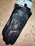 Кожа-натуральная с кролик Мужские перчатки только оптом, фото 3