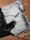 Кожа-натуральная с кролик Мужские перчатки только оптом, фото 4