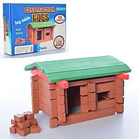 Деревянная игрушка Домик:  сортер, шнуровка, счеты, часы (MD 2108 )
