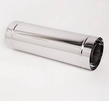 Дымоход Витан нержавейка в оцинковке длина 0.5 м d200/260 мм, фото 2