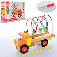 Деревянная игрушка Центр развивающий MD 2107  машина