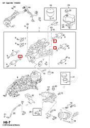Ущільнювальний сальник клапана роботизованою КПП на Opel Vivaro 2001-> — Opel (Оригінал) - 4413870