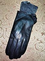 Кожа натуральная с махра мужские перчатки только оптом, фото 1