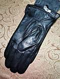 Кожа натуральная с махра мужские перчатки только оптом, фото 3