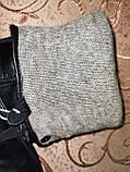 Кожа натуральная с шерсти сетка мужские перчатки только оптом, фото 3
