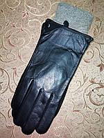 Кожа натуральная с шерсти сетка мужские перчатки только оптом, фото 1