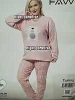Женская пижама интерлок Турция, большие размеры
