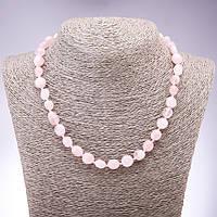 Бусы из натурального камня Розовый кварц галтовка