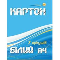 """Набор картон белый формат А4, 7 листов """"Тетрада"""""""
