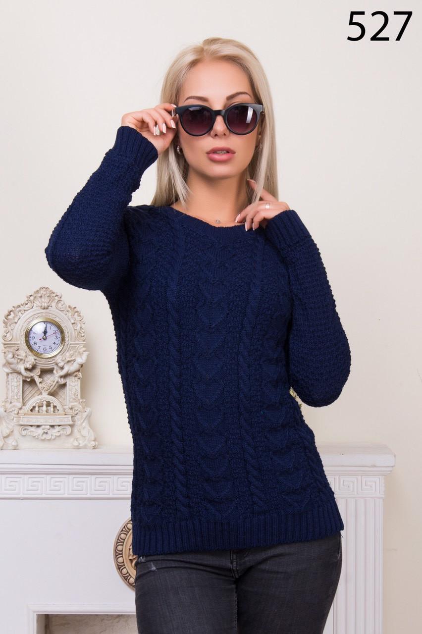 Вязаный свитер с узором (в расцветках 46-48)