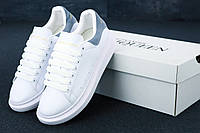 Женские кроссовки в стиле Alexander McQueen Oversized White (Реплика ААА+)