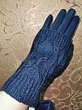 Вязание шерсти с Замш женские перчатки только оптом, фото 3