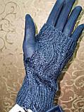 Вязание шерсти с Замш женские перчатки только оптом, фото 4