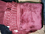 Вязание шерсти с Замш женские перчатки только оптом, фото 5