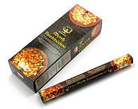 Благовония, угольные аромапалочки Myrrh Frankincense (Мирра и Ладан, Darshan) шестигранник