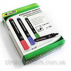 Маркер перман 1-3 мм зеленый 4-104 4Office
