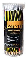 Карандаш чернографитный Scholz 126 HB с ластиком треугольный