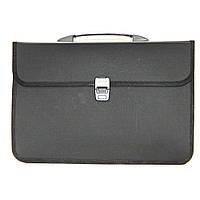 Пластиковый портфель В4 4OFFICE 4-252 2 отделения черный