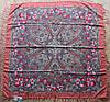 Платок шерстяной павлопосадский (120см) 607024, фото 2