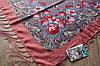 Платок шерстяной павлопосадский (120см) 607024, фото 3