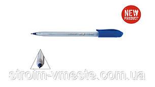 Ручка шар маслян 1мм треугольный корпус синяяTRISTAR WIN