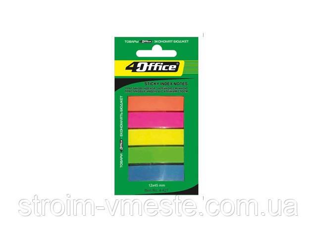 Роздільники 12х45мм 5цветов по 20л PP 4-427 4Office