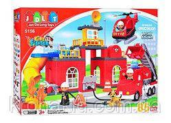 """Конструктор JDLT 5156 (аналог Lego Duplo) """"Пожарная станция"""" 85 дет."""