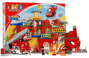 """Конструктор JDLT 5156 (аналог Lego Duplo) """"Пожарная станция"""" 85 дет., фото 2"""