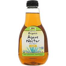 """Органічний нектар агави NOW Foods, Real Food """"Organic Agave Nectar"""" світлий (660 г)"""