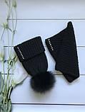 Женская шапка и снуд. Ручная вязка., фото 2