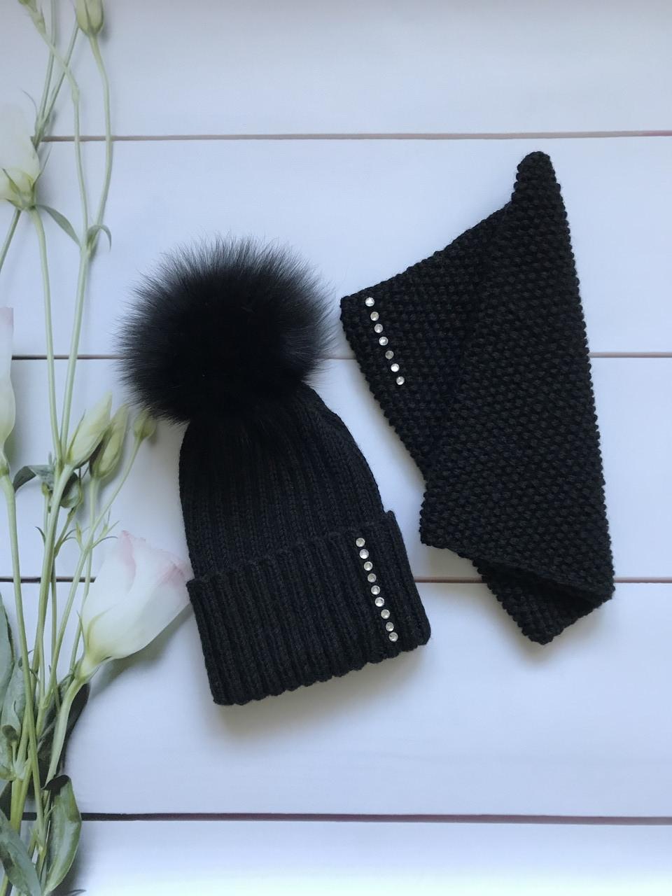 Женская шапка и снуд. Ручная вязка.