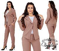 """Женский повседневный костюм больших размеров """" Пиджак и брюки """"  Dress Code, фото 1"""