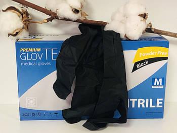 Перчатки нитриловые неопудренные черные р.L 50пар