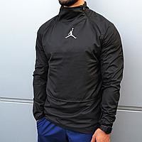 Мужская куртка ветровка анорак Jordan черная