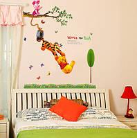 """Интерьерная виниловая наклейка на стену для детей """"Винни Пух"""", фото 1"""
