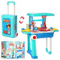 Игровой набор Доктор в Чемодане на колесиках, 2 в 1 чемодан раскладывается в стол,инструменты, 008-925
