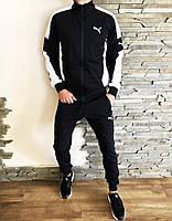 Мужской спортивный костюм черный Puma ERA