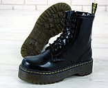 Женские ботинки в стиле Dr Martens Jadon BLACK (Реплика ААА+), фото 5