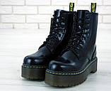 Женские ботинки в стиле Dr Martens Jadon BLACK (Реплика ААА+), фото 6