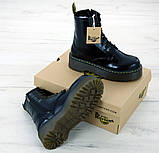 Женские ботинки в стиле Dr Martens Jadon BLACK (Реплика ААА+), фото 7