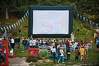 Надувной экран кинотеатр размер полотна 6*4м