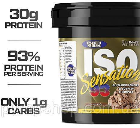 Протеїн ізолят Ultimate Nutrition Iso Sensation 93 2270 г (93% білка), фото 2