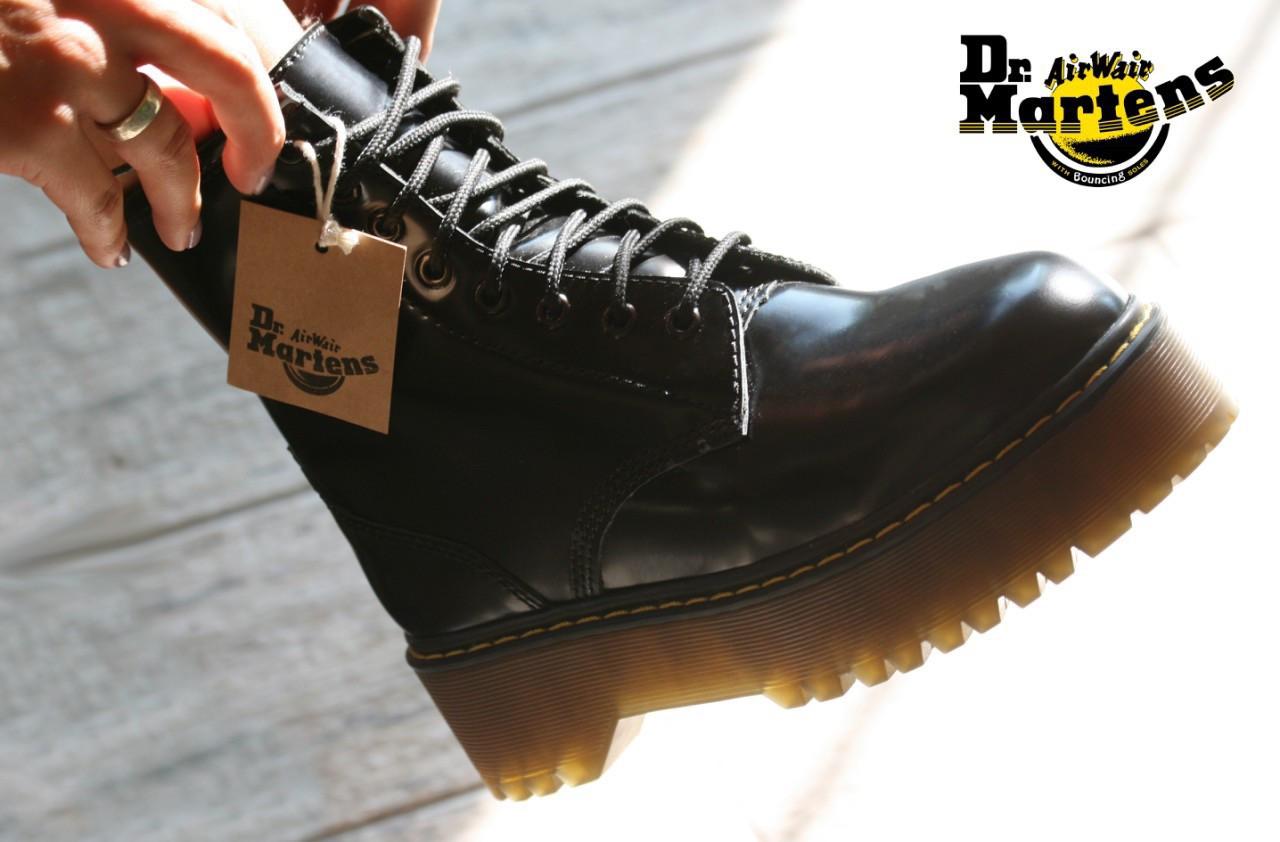 Женские ботинки в стиле Dr Martens Jadon BLACK (Реплика ААА+)